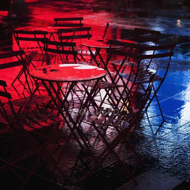 Table And Chairs at cafe — Stock Photo