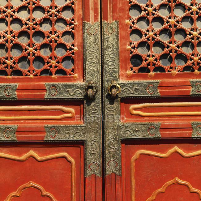 Detalhe da porta da cidade proibida — Fotografia de Stock