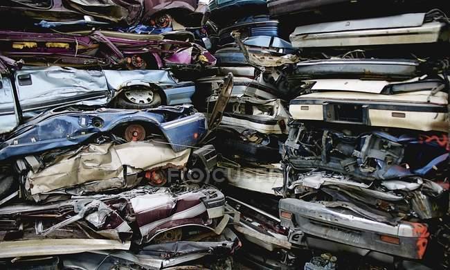 Crushed Cars — Stock Photo