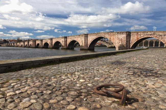 Bridge Going Over River Tweed — Stock Photo