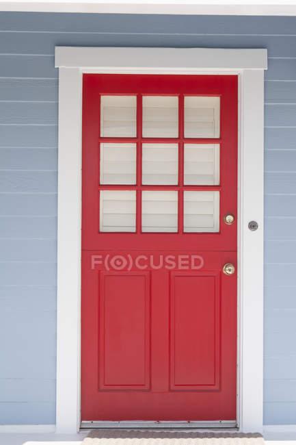 Red Door Framed — Stock Photo