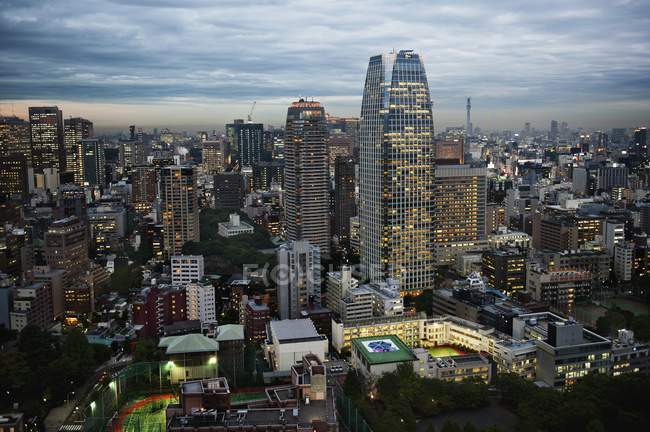 City Skyline at night — Stock Photo