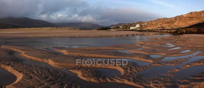 Soirée sur la plage de Derrynane près de Caherdaniel — Photo de stock