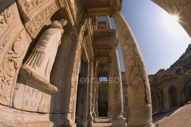Bibliothèque de Celsus en Turquie — Photo de stock
