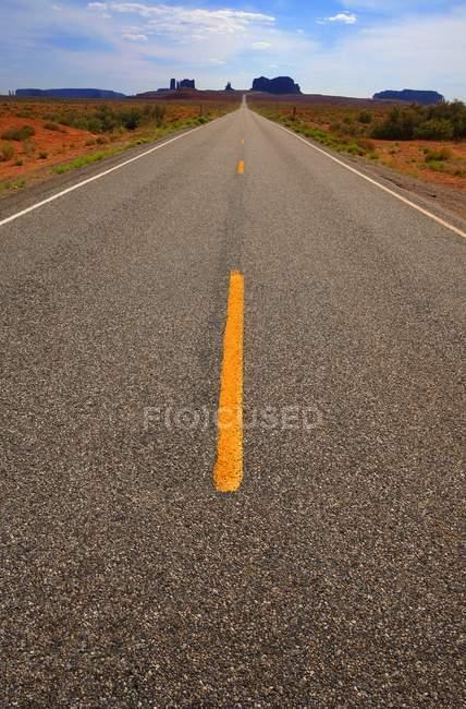 Enrobé ouvert Road — Photo de stock