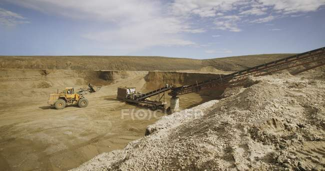 Gravel Crusher And Separator — Stock Photo