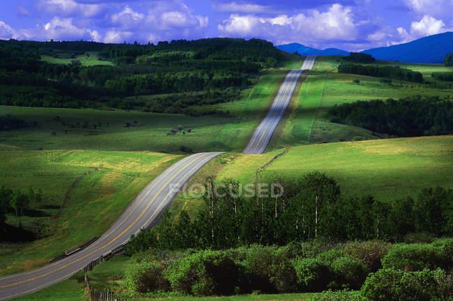 Two-Lane Highway — Stock Photo