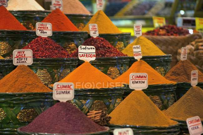 Spices For Sale At Market — Stock Photo