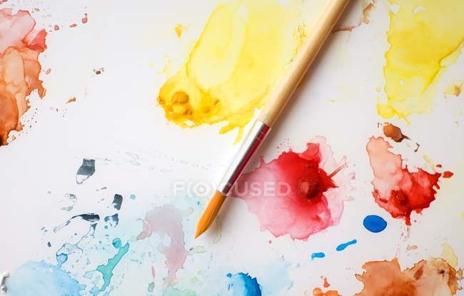 Splashes Of Paint On Canvas — Stock Photo
