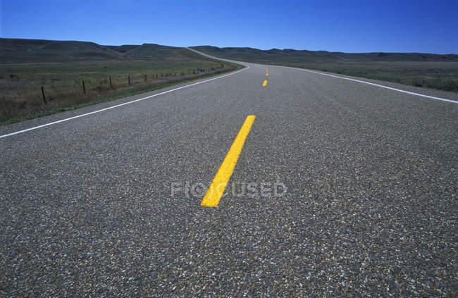 Two Lane Highway — Stock Photo