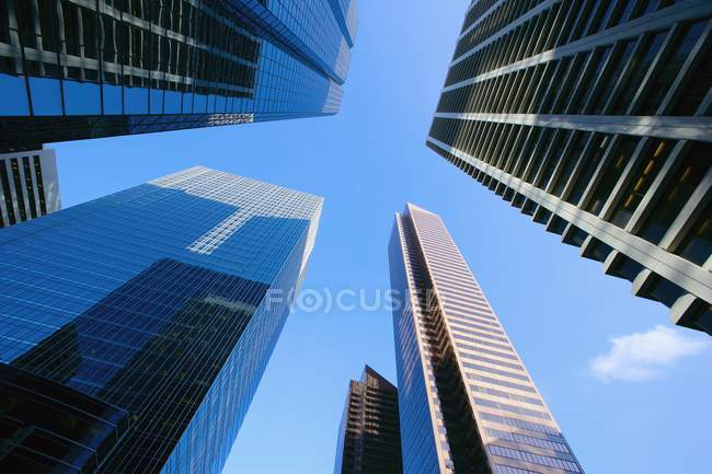 Downtown Buildings against blue sky — Stock Photo