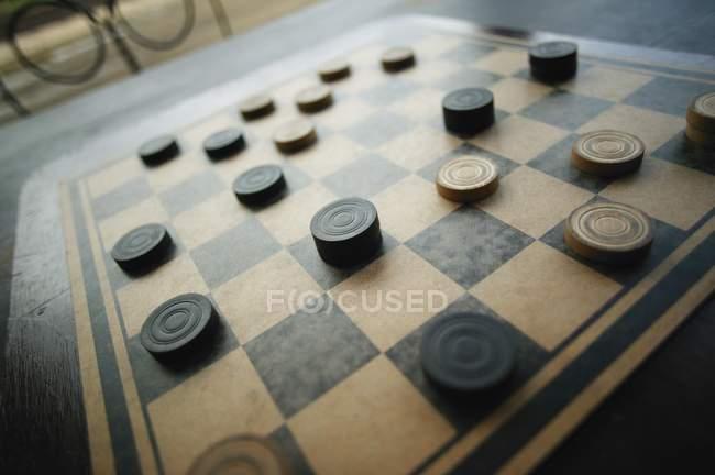 Vista angular de tablero corrector vintage - foto de stock