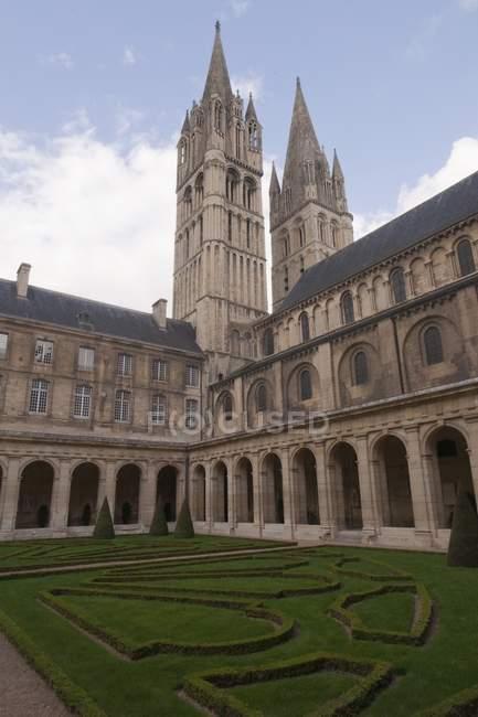 Abbaye Aux Hommes - foto de stock
