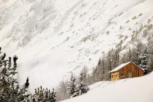 Cabin On Mountain at British Columbia — Stock Photo