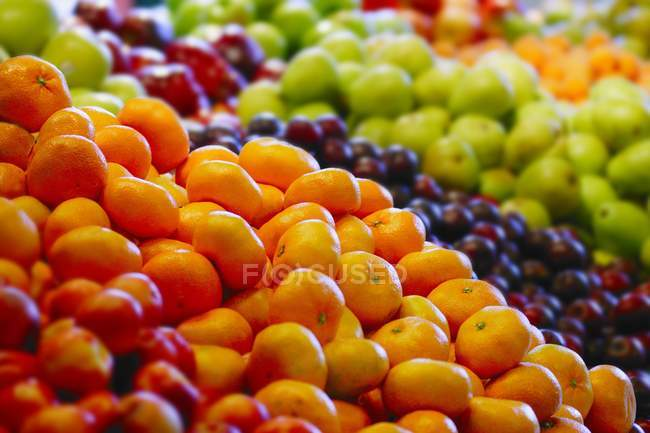 Different Fruits In  Market — Stock Photo