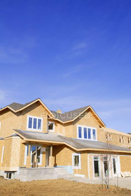 Newly Constructed House — Stock Photo