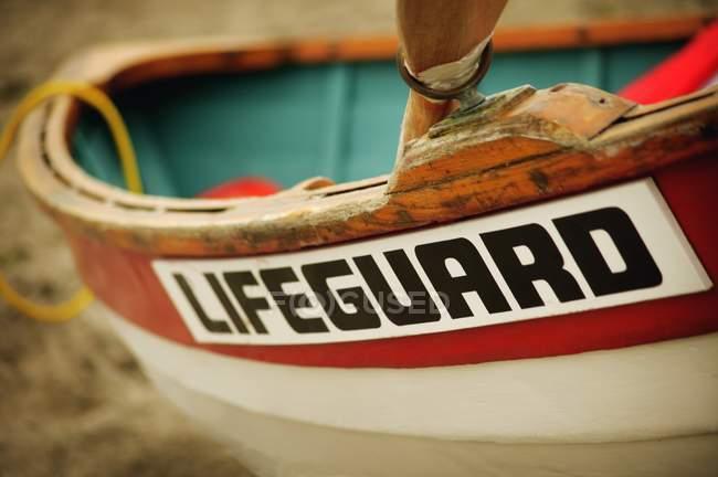 Rettungsboot am Strand — Stockfoto