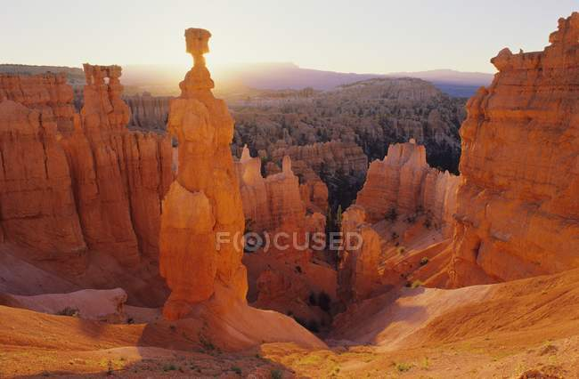 Rock formation in orange colors — Stock Photo