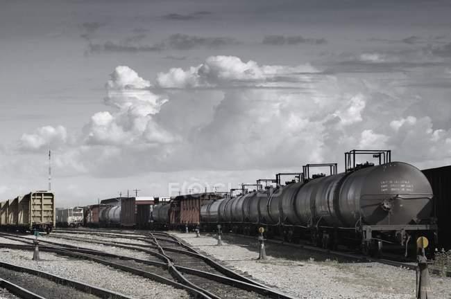 Trasporto di merci su ferrovia — Foto stock