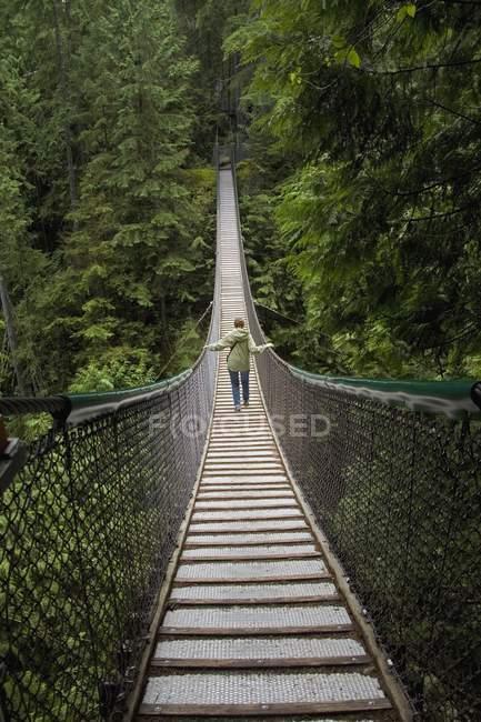 Лінн Каньйон підвісний міст північної Ванкувер, Британська Колумбія, Канада — стокове фото