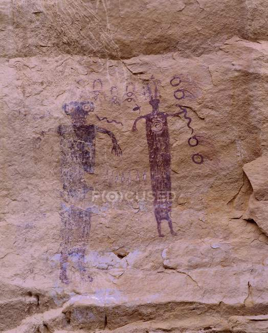Ancient Pictographs On  Wall — Stock Photo