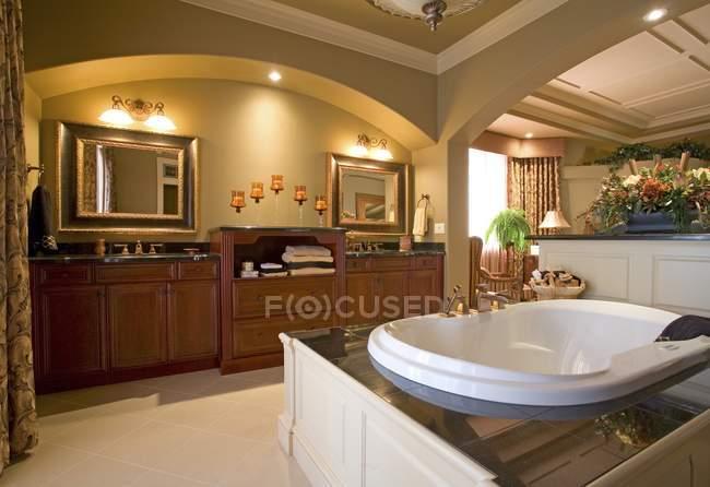 Furnished Luxurious Bathroom — Stock Photo