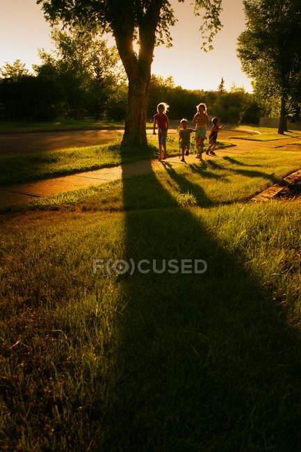Amis à quelques après-midi dans le parc — Photo de stock