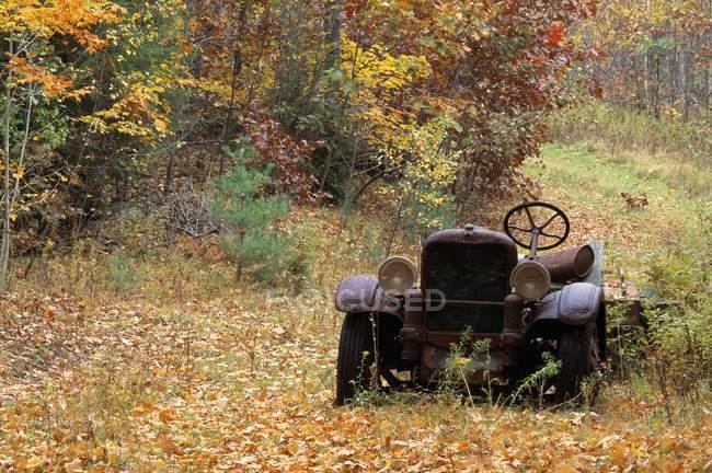 Verlassene Feuerwehrauto — Stockfoto