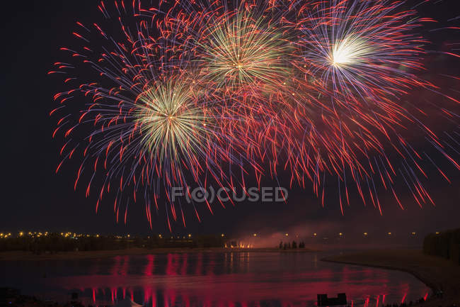 Colourful fireworks display — Stock Photo