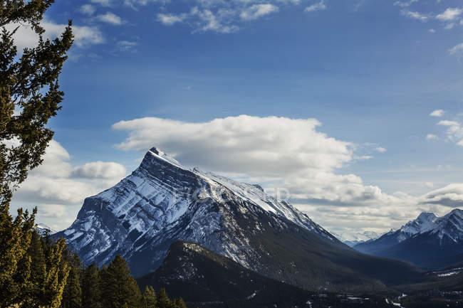 Montagnes Rocheuses en hiver — Photo de stock