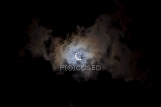 Eclipse solar, Isla Quirimba - foto de stock