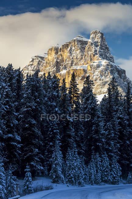 Montagne accidentée couverte de neige — Photo de stock