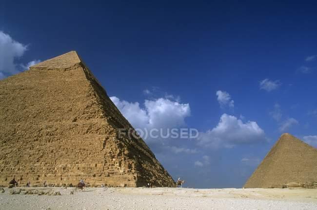 Піраміда khafra в Єгипті — стокове фото