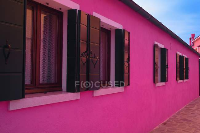 Pink Houses with windows — Stock Photo