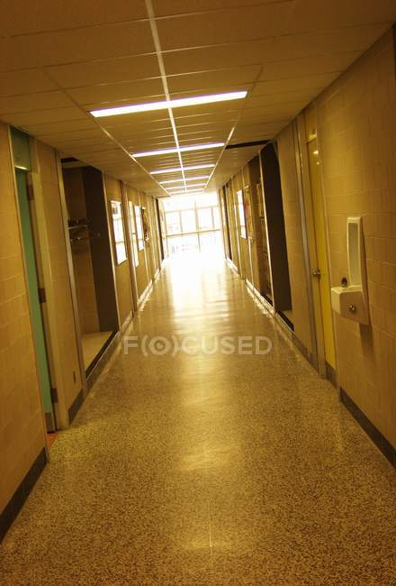 Light At The End Of Hallway — Stock Photo