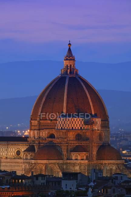 Duomo ao entardecer Florença — Fotografia de Stock