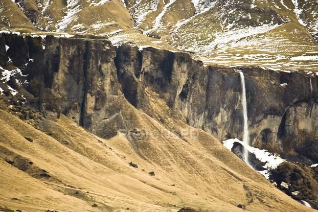Waterfall Near Town Of Vik — Stock Photo