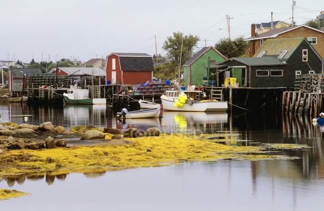 Рибальські села Західний Dover — стокове фото