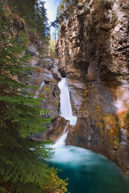Canyon de Johnston em banff — Fotografia de Stock
