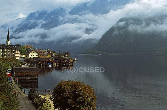 View of buildings on shore — Stock Photo