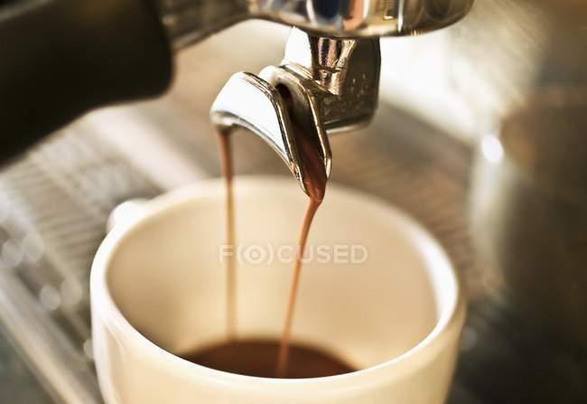 Detailansicht der Kaffeemaschine Kaffee — Stockfoto
