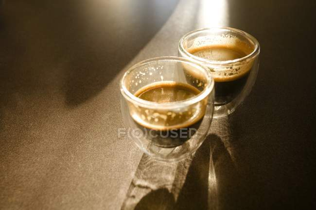 Two glass Cups Of Espresso — Stock Photo