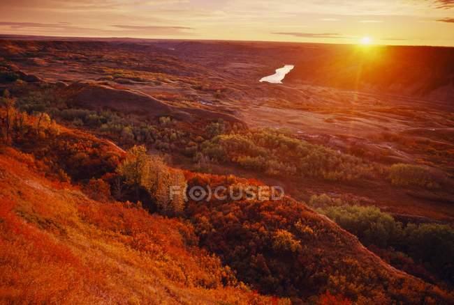 Sunrise Over Dry Island — Stock Photo