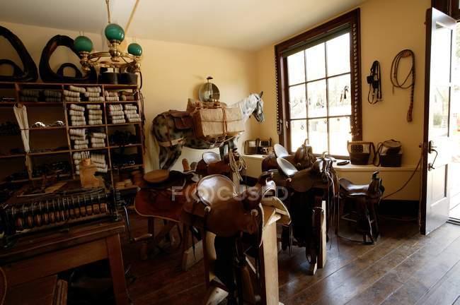 Saddle Store interior — Stock Photo