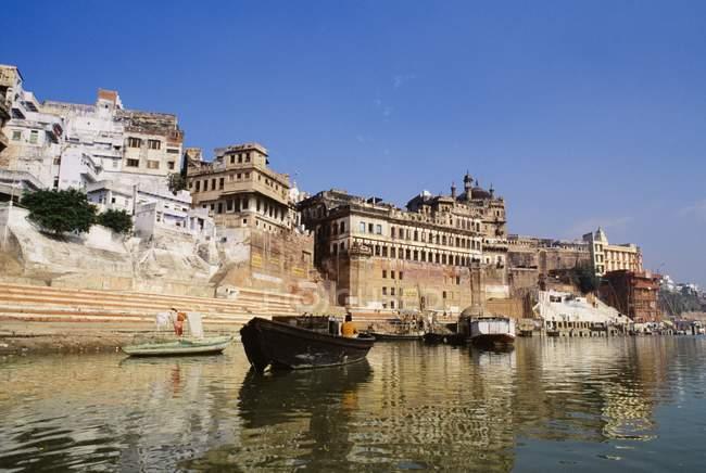 Seegrundstück am Fluss Ganges — Stockfoto