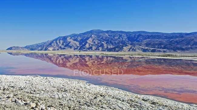 Отражение гор в водорослях Озерного озера — стоковое фото