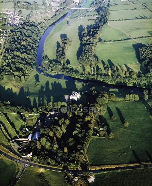 Vista aérea do prado — Fotografia de Stock