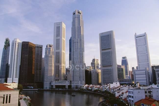 Міський пейзаж і набережної, Сінгапур — стокове фото