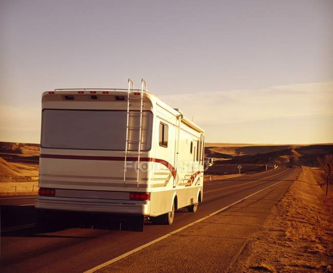 Motor Home on road — Stock Photo