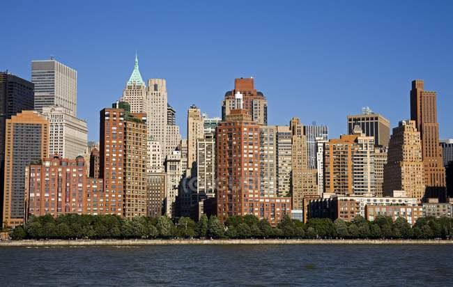 West Side de Manhattan inférieure — Photo de stock